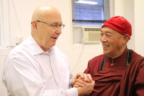 心道法師與蘇利文教授談生命和平大學