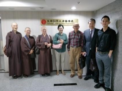 緬甸駐台貿易辦事處代表Dr. Myo Thet拜會生命和平大學籌備處